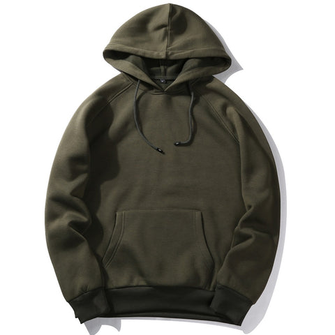 Fashion Color Hoodies Men's Thick Clothes Winter Sweatshirts