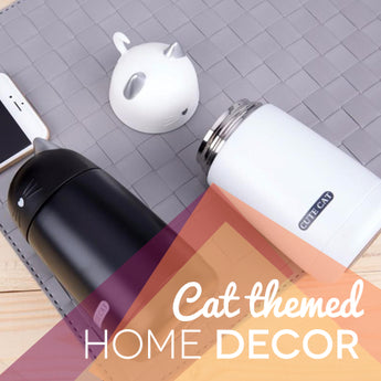 Cat themed home decor