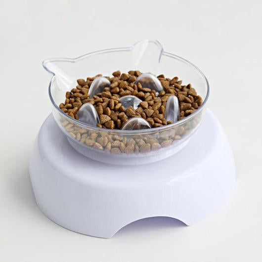 Orthopedic Anti - Vomit & Slow Feeder Cat Bowl