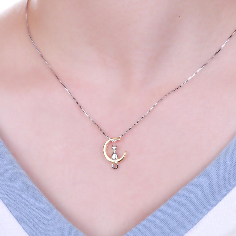 Moon Cat Necklace-cutecatcasa