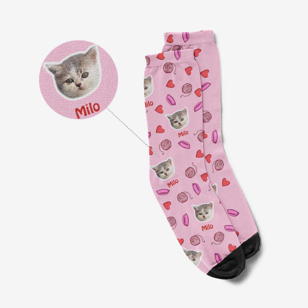 Custom Cat Face Socks - Purr Socks®