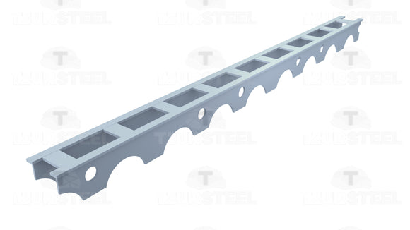 Plastic line concrete spacer, continuous lengths of 2 meters