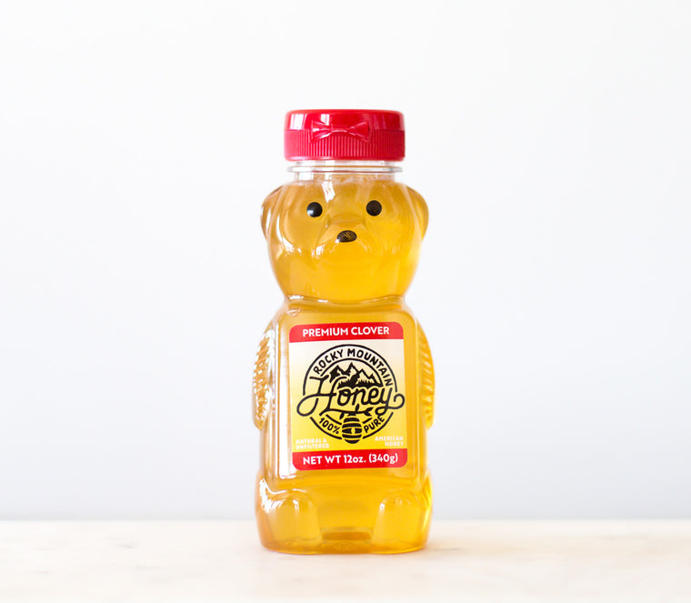 (Case of 12) 12 oz. Clover Honey Bear