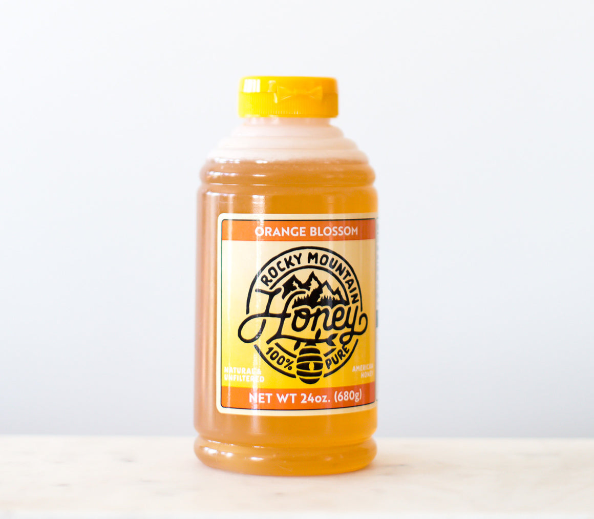 (case of 12) Orange Blossom Honey Squeeze Jar 24 oz.