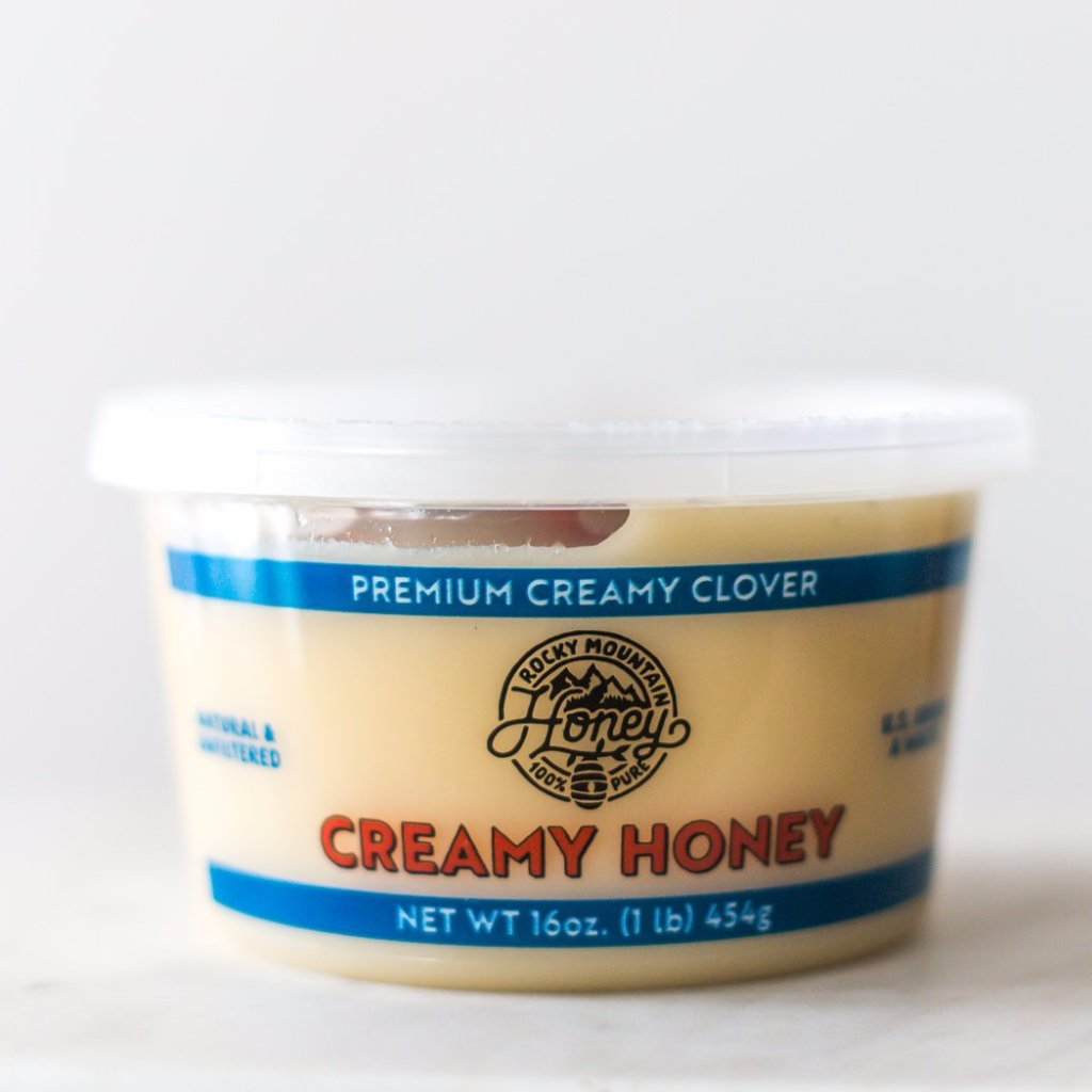 (Case of 12) 16 oz.  Creamy Clover Honey Tub