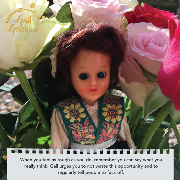 Gail Grisham GET WELL - Doll Truths Gail Grisham funny greetings cards