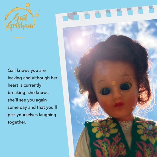 Gail Grisham MISS YOU - Doll Truths Gail Grisham funny greetings cards