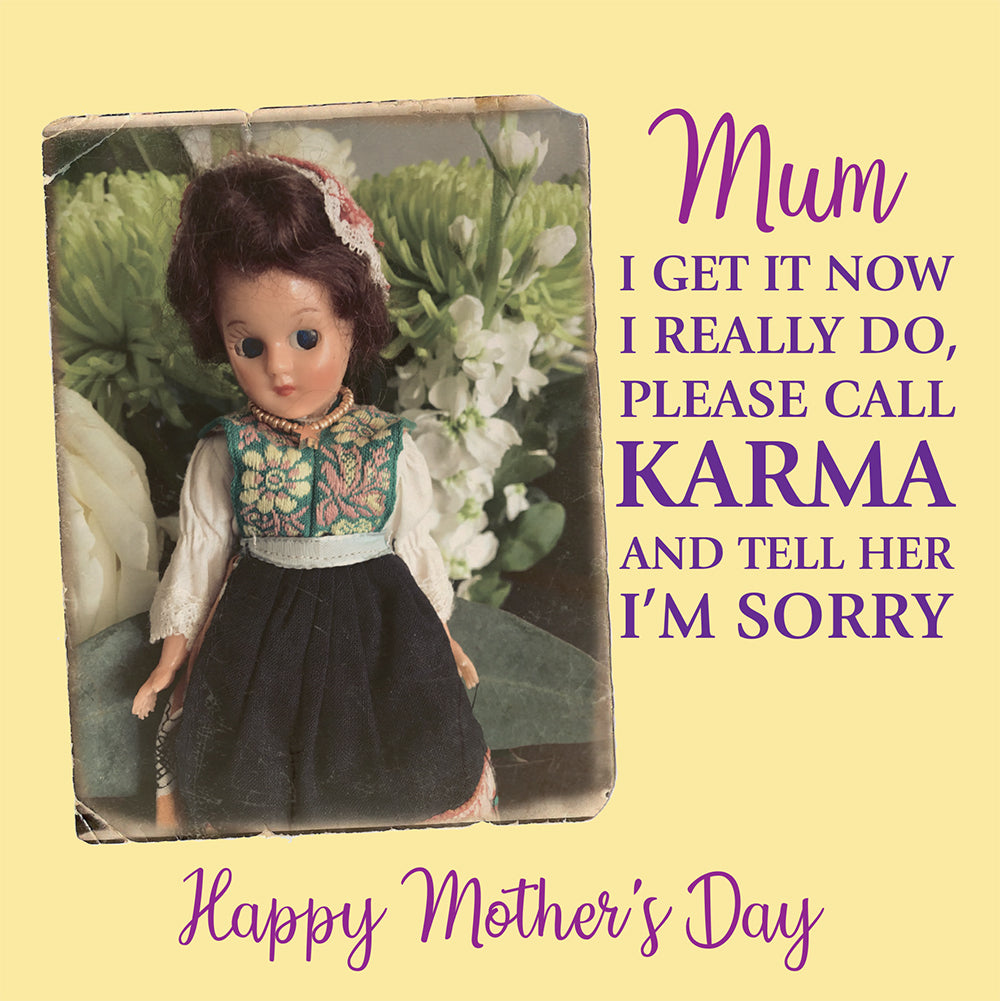 MOTHER'S DAY CARD - Doll Truths Gail Grisham funny greetings cards