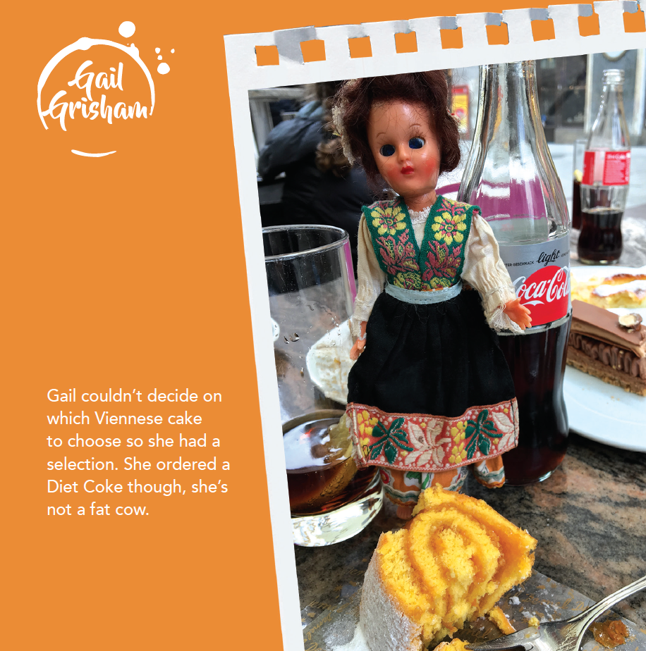 CAKE & DIET COKE CARD - Doll Truths Gail Grisham funny greetings cards