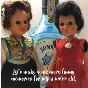 FUNNY MEMORIES BIRTHDAY CARD - Doll Truths Gail Grisham funny greetings cards