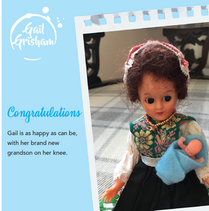 Gail Grisham - NEW GRANDPARENTS (Boy) - Doll Truths Gail Grisham funny greetings cards