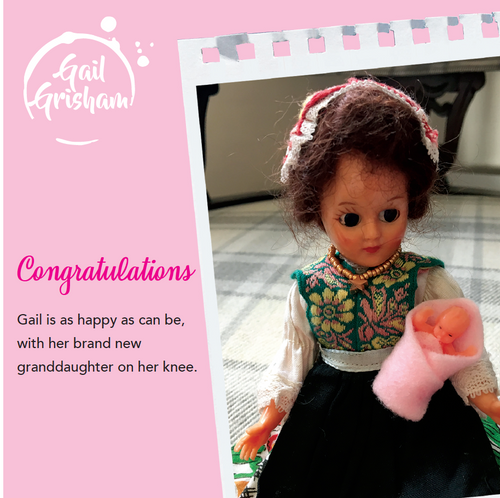 Gail Grisham - NEW GRANDPARENTS (Girl) - Doll Truths Gail Grisham funny greetings cards