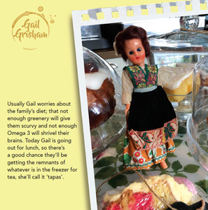 TAPAS FOR TEA CARD - Doll Truths Gail Grisham funny greetings cards