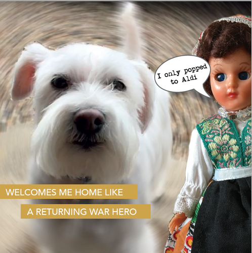 WELCOME HOME - Doll Truths Gail Grisham funny greetings cards