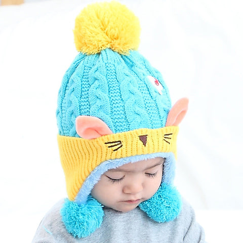 Cat Ear Knit Beanie - BabyTrunk
