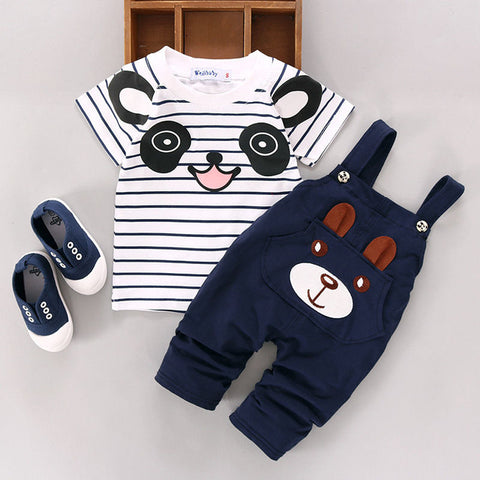 Critter Overall and Pant Set in Navy - BabyTrunk