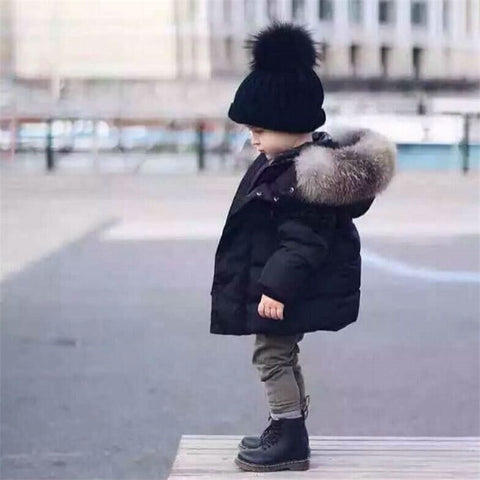 Faux Fur Hooded Puffer Jacket - BabyTrunk