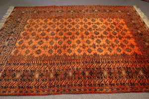 """Autumn Leaves"" Turkman Vintage Carpet - 213cmX276cm (7'X9'1"")"
