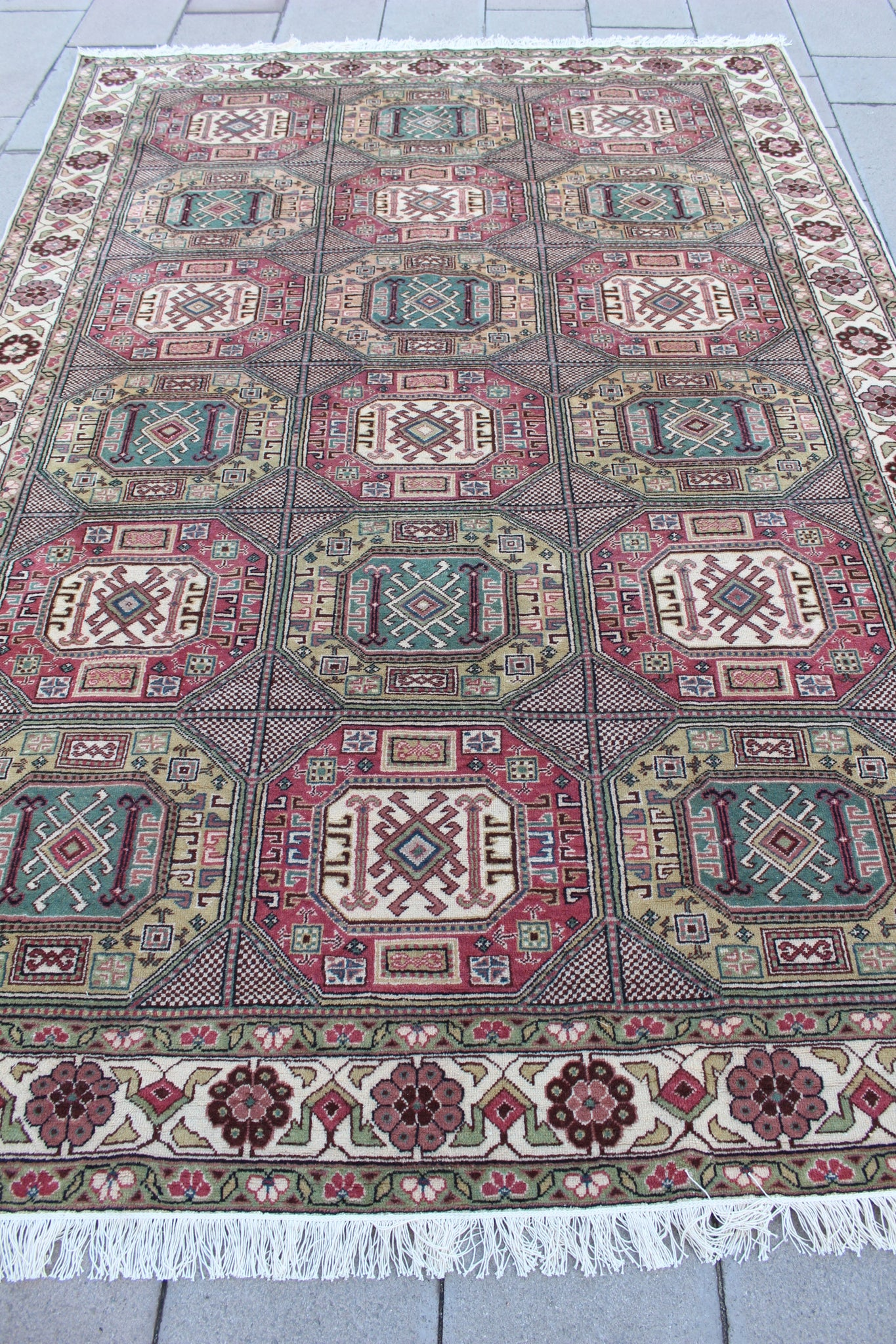 """LAURA"" Turkish Vintage Carpet - 301cmX200cm (9'10""X6'7"")"