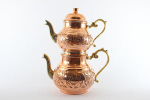 Turkish Copper Teapot Set (2 pieces)