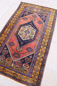 """KELLY"" Turkish Yahyalar Vintage Carpet - 185cmX105cm (6'1""X3'5"")."