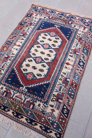 """ALEX"" Turkish Vintage Carpet - 154cmX103cm (5'1""X3'5"")"