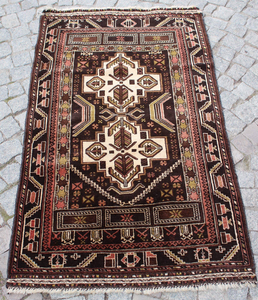 """Afghan"" Tribal Baluch Carpet - 145cmx85cm (4'9"" x 2'9"")"