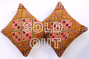 "SOLD...Vintage Kilim Cushions (2 pieces) -  40x40cm (15""x15"")"