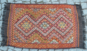 """Desert Light"" Vintage Turkish Kilim - 110cmx59cm (3'7""x1'11"")"