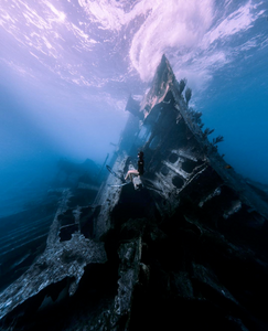 Shipwreck artificial reef photo by John Garza on Instagram
