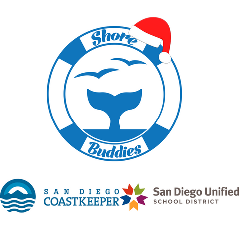 Shore Buddies Holiday santa hat and collaboration tile with Coastkeeper and Unfied.png