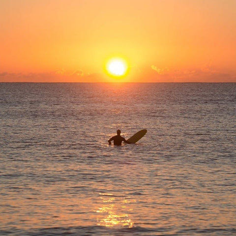 Wisdom Wednesday - surfer at sunset