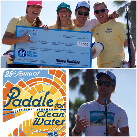 collage check presentation Shore Buddies Surfrider Foundation
