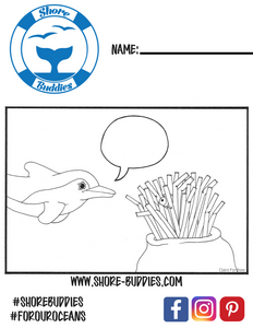 Finn the Dolphin coloring page 1