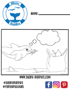 Finn the Dolphin coloring page 3