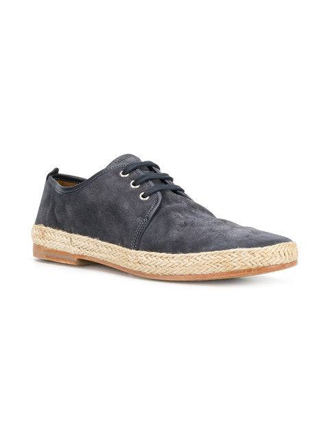 N.D.C., created by 2 friends in 2001, combines beautiful Tuscan leathers with the most skilled artisans throughout Europe.  This results in pure and functional footwear.  Maxim espadrilles in dark blue suede will be the perfect complement to your summer wardrobe.