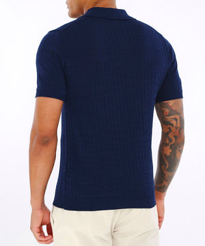 Knitted Cotton Polo Shirt CN1969