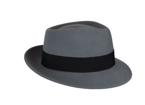 "Introducing our brand new shape, the Derzen. The Derzen is the perfect new medium brim shape that combines the style of the famous Tino and a new variation of the low teardrop crown of the beloved Wynn. Featuring a 2 1/4"" snap brim that can be worn up or down, this fedora provides a classic elegance to any outfit. Finished with a Japanese grosgrain trim and removable feather. It also features a comfort sweatband and inside loop for easy hanging. Made in the USA. LiteFelt® finish: a revolutionary process tha"