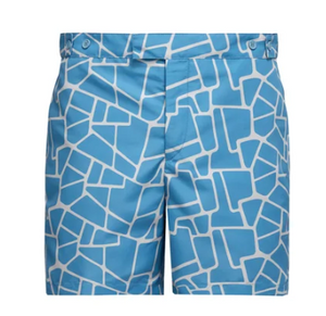Try Frescobol Carioca's exuberant aesthetic with these blue Camhino-print swim shorts. They're cut from a lightweight shell, with a buttoned front and side pockets, then finished with mesh briefs.