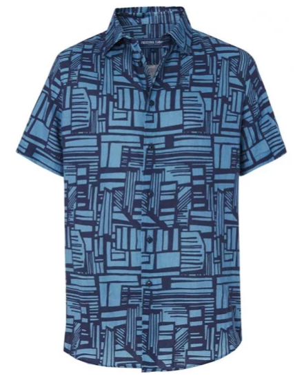 S19's Linha print from Frescobol Carioca celebrates the bold fluidity of Roberto Burle Marx's freehand drawings, and it features here on their first printed linen shirts. In the same fine Italian linen as their regular fit block shirts, this piece is sure to introduce a more daring element to your wardrobe.