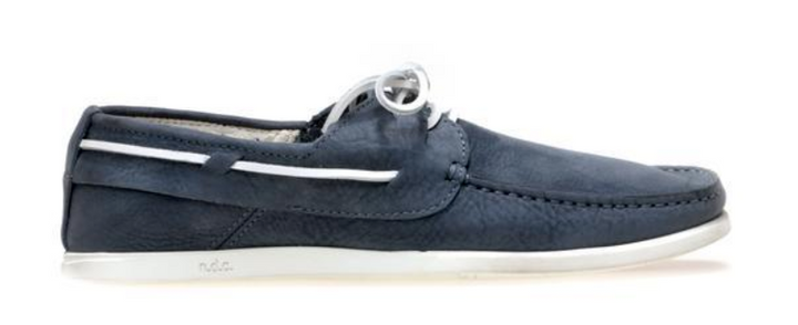 Gorgeous navy leather Alithia boat shoes from N.D.C.   Meticulously hand made featuring a square toe, a tie fastening, a branded insole and a flat rubber sole.