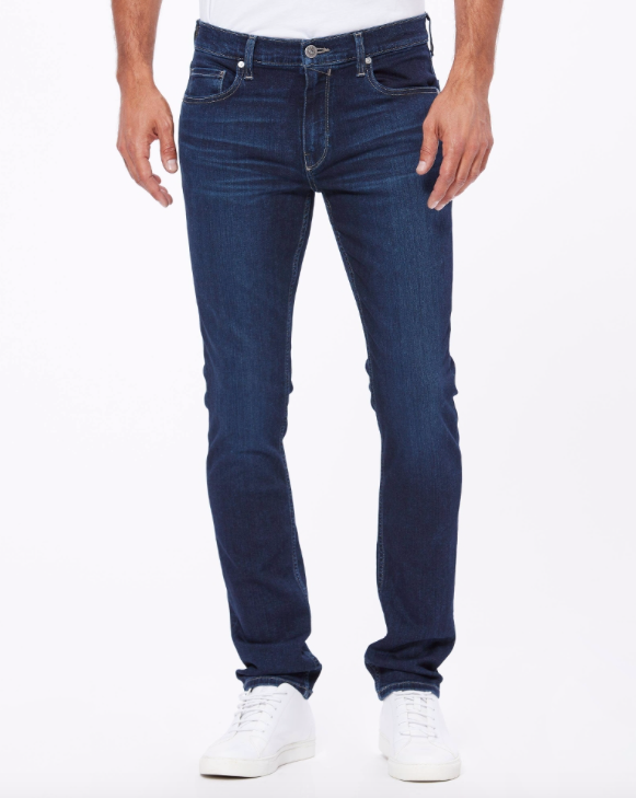 Paige's classic mens slim fit jeans, fitted through the hips and narrow from the thigh to the leg opening.  The softest most luxurious jean you will ever try!