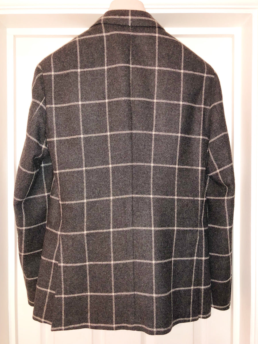 Grey Plaid Jacket C04Q