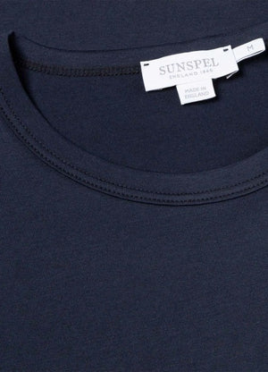 Sunspel played a pivotal role in the birth of this universal wardrobe staple; a part of our heritage that we like to think gives us a certain expertise when it comes to knowing exactly what it takes to make the best T-Shirt possible. Made in England using long-staple cotton for unparalleled softness, lightness and comfort, our crew neck T-Shirt has a classic fit and only the most essential of details, making it the perfect day-to-day wardrobe foundation.