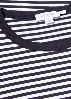 Crafted from Sunspel's signature long-staple cotton fabric, we're confident their Short Sleeve Crew is the best T-Shirt you'll ever wear. Combining a clean aesthetic with a classic fit, it's available in a host of colours and stripes and is the perfect foundation for your everyday looks.