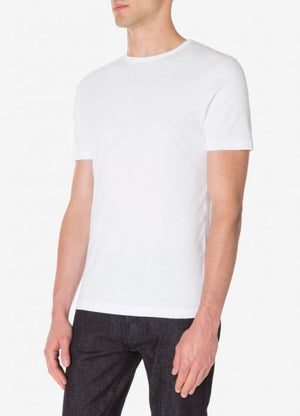 Sunspel's new Sea Island cotton T-Shirt is made from an ultra fine interlocking fabric that retains all the incredible softness of this rare cotton without appearing see-through. Both sides of the fabric have the same softness, while the bound neck and blind stitch hems keep the finish clean and refined.  Simple, stripped back and beyond comfortable, this is the ultimate essential T-Shirt.  Sea Island, the world's softest cotton, is still grown and handpicked in the Caribbean. Making up only 0.0004% of the