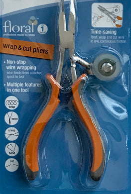 Needle-nose pliers with wire spool feeder