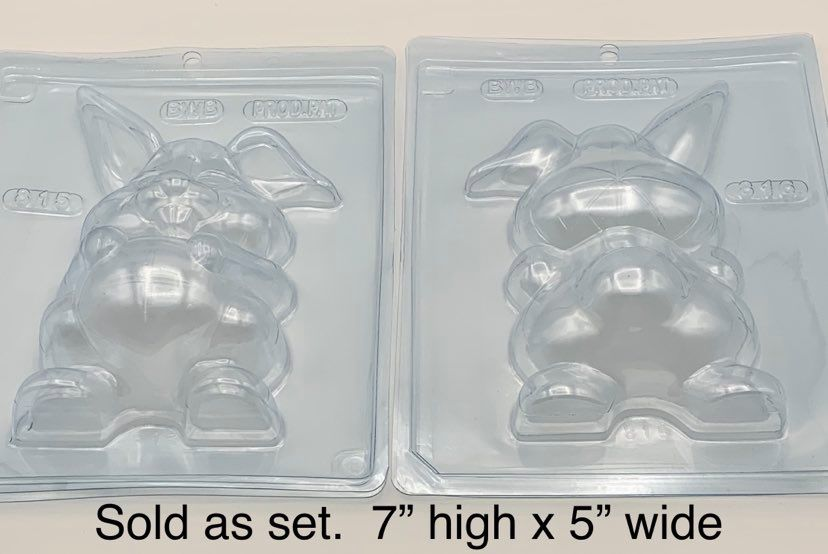 3 pc Fluffy Bunny Mold  2 pc set