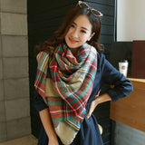 Women's Plaid Oversized Square Scarf and Wrap