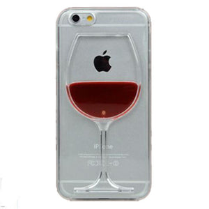 """Glass is Half Full"" Wine Cup Liquid Transparent Case For Smartphones"